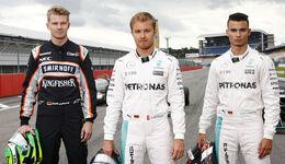 Hülkenberg, Rosberg & Wehrlein - Hockenheim 2016