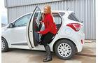 Hyundai i10 blue 1.0 Trend, Fondsitz, Aussteigen