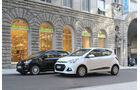 Hyundai i10 blue 1.0 Trend, VW 1.0 high up, Seitenansicht