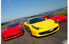 Impression Ferrari F40, F50 und 458 Italia spa1111