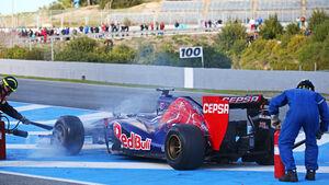 Jean-Eric Vergne - Toro Rosso - Formel 1 - Jerez - Test - 30. Januar 2014