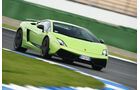 Lamborghini Gallardo LP 570-4 Superleggera, Frontansicht, Kurvenfahrt