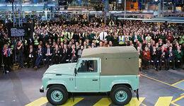 Land Rover Defender Abschied