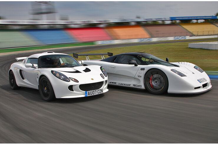 Lotus Exige S, Mosler MT900 GT