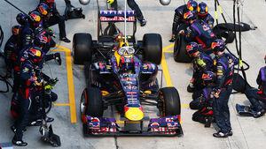 Mark Webber Boxenstopp GP Malaysia 2013