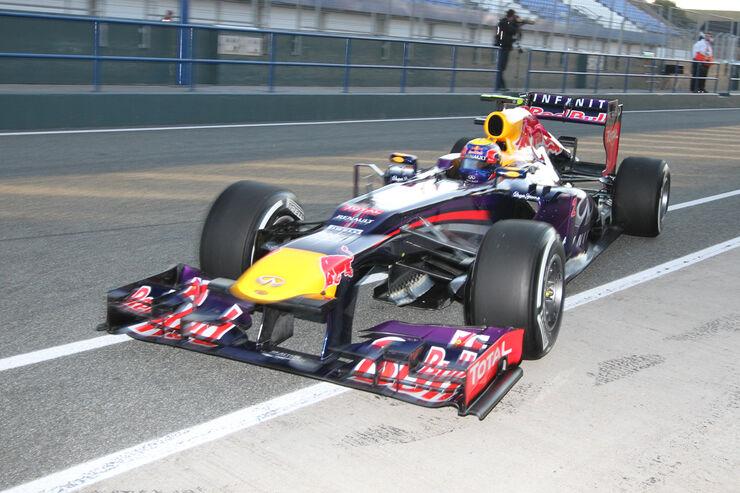 Mark Webber - Red Bull - Formel 1 - Test - Jerez - 5. Februar 2013