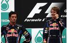 Mark Webber und Sebastian Vettel