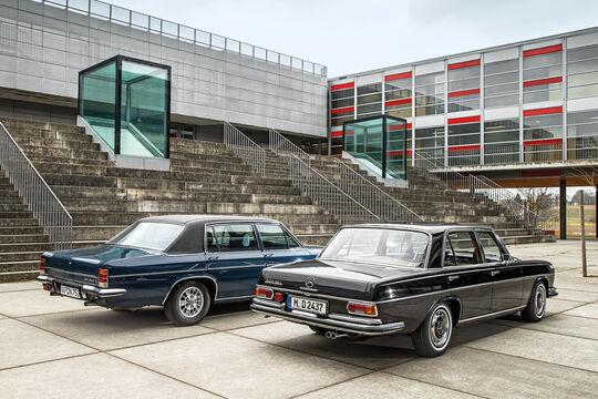 Mercedes-Benz 300 SEL 3.5, Opel Diplomat V8, Heckansicht
