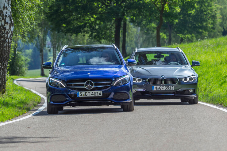 Mercedes c klasse t und bmw 3er touring life style kombis for Bmw living style