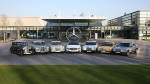 Mercedes E-Klasse - sechs Generationen