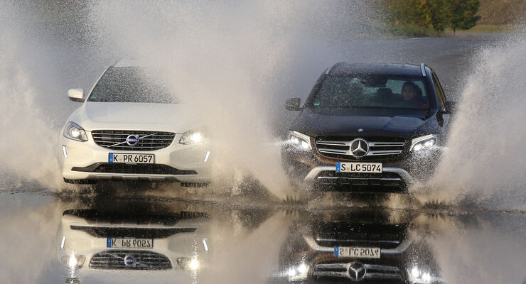 Mercedes GLC 250 d 4Matic, Volvo XC60 D5 AWD, Frontansicht