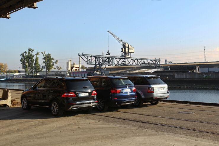 Mercedes ML, BMW X5, Range Rover Sport