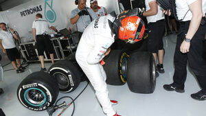 Michael Schumacher GP Bahrain 2012 Pirelli Reifen
