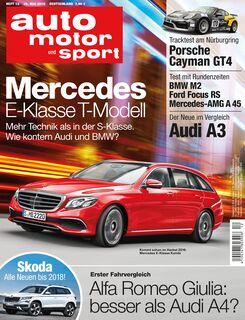 Neues Heft auto motor und sport, Ausgabe 12/2016, Vorschau, Preview