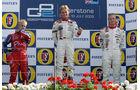 Nico Rosberg, Heikki Kovalainen und Alexandre Premat