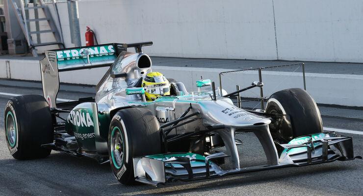 Nico Rosberg - Mercedes - Formel 1 - Test - Barcelona - 3. März 2013