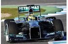 Nico Rosberg, Mercedes GP, Formel 1-Test, Jerez, 5.2.2013