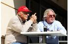 Niki Lauda & Keke Rosberg - Bahrain-Test 2014