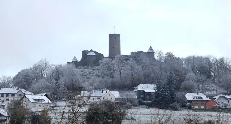 Nürburg, Schnee, Nordschleife, VLN Langstreckenmeisterschaft Nürburgring