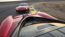 Pagani Huayra, Ferrari F12 Berlinetta, Streckenbild
