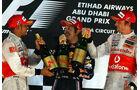 Podium GP Abu Dhabi 2010