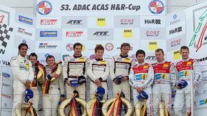 Podium Siegerehrung VLN Langstreckenmeisterschaft Nürburgring, 4.Rennen, 28-05-2011