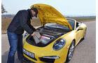 Porsche 911 Carrera S Cabriolet, Kofferraum, Motorhaube