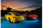 Porsche 911 Carrera S, Mercedes-AMG GT, Heckansicht