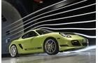 Porsche Cayman R, Frontansicht, Windkanal
