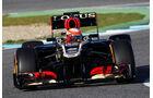 Romain Grosjean, Lotus Renault GP, Formel 1-Test, Jerez, 5.2.2013
