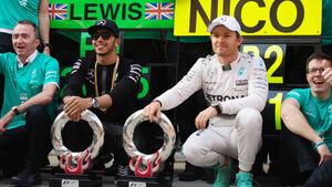 Rosberg & Hamilton - GP China 2015