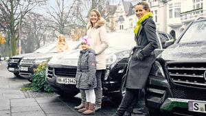 SUV, Frau, Kinder