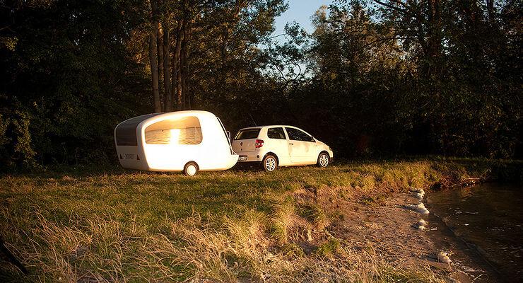 Amphibien caravan sealander ab 2012 camping auf dem Sealander caravan