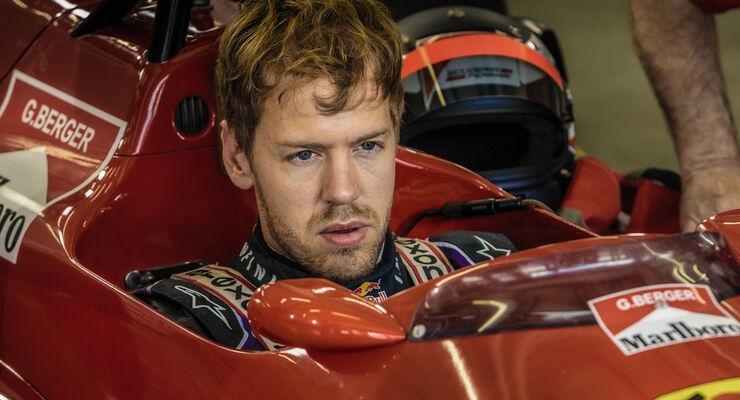 Sebastian Vettel im Berger-Ferrari