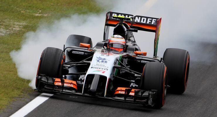 Sergio Perez - Verbremser - GP Japan 2014
