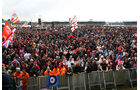 Silverstone Party Fans Formel 1 2012 GP England