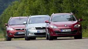 Skoda Octavia Combi, Ford Focus Turnier, Renault Megane Grandtour
