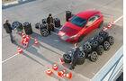 Sommerreifen-Test, Mercedes A 250, Testaufbau