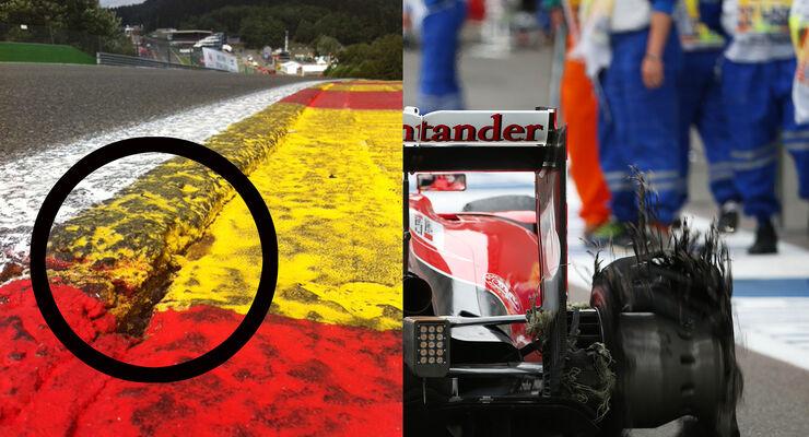 Spa Randstein Vettel