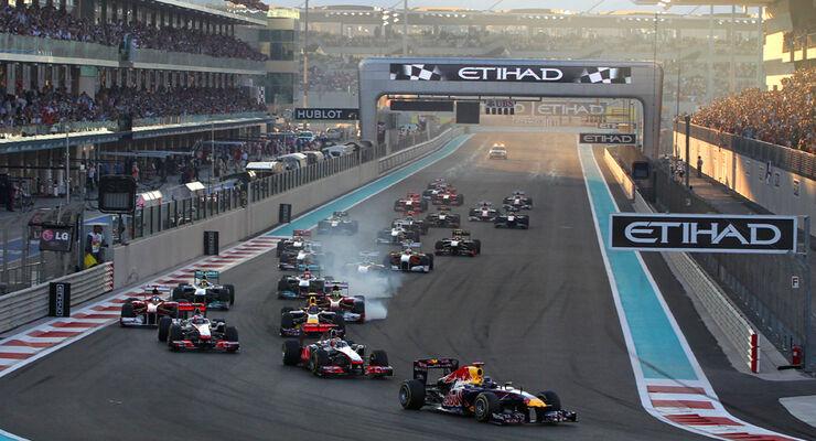 Start - GP Abu Dhabi 2011