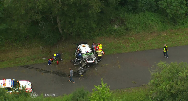 Stephane Lefebvre - Crash - Screenshot - Rallye Deutschland 2016