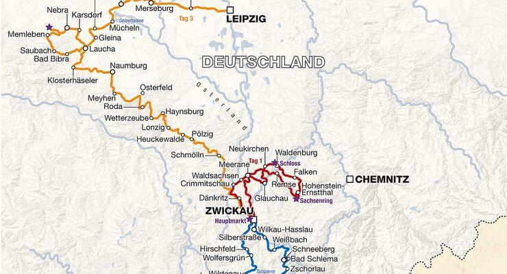 Streckenplan Sachsen Classic 2014