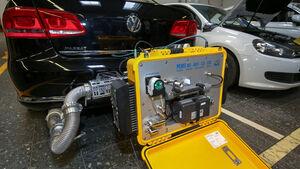VW Diesel-Update, Abgastest, Reportage