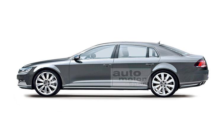 VW Phaeton 2015, Retusche