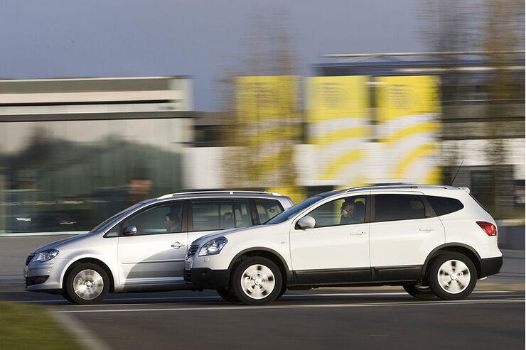 VW, Touran, Nissan, Qashqai, dynamisch, vtest, aumospo0309