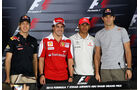 Vettel, Hamilton, Alonso, Webber - Abu Dhabi 2010