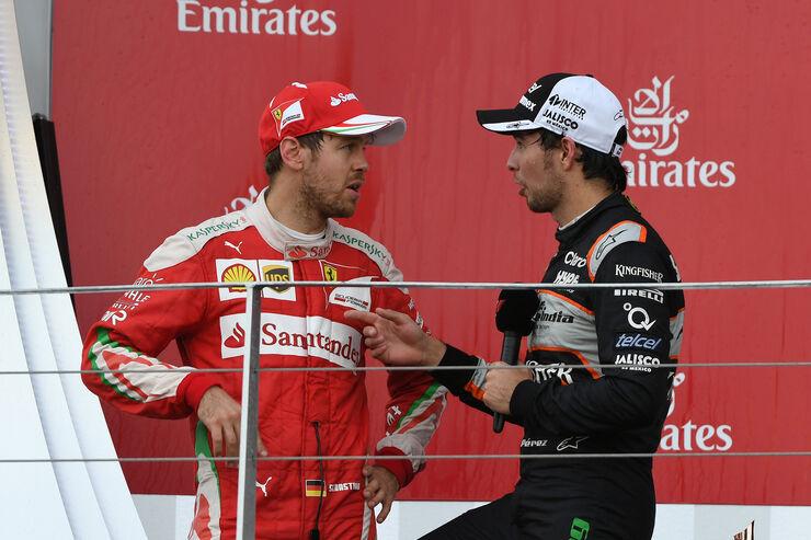 Vettel & Perez - GP Aserbaidschan - Formel 1 - 2016