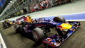 Vettel & Webber - GP Singapur 2013