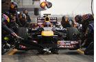 Webber Boxenstopp 2013 Barcelona