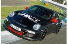 Wendland-Porsche 997 GT3 WRS 510, Frontansicht, Kurvenfahrt